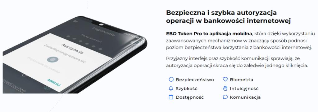 Logowanie do bankowości kodem QR i łatwa autoryzacja przelewów z poziomu smartfona https://ebotoken.pl